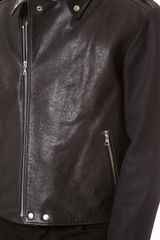 Public School Leather Motorcycle Jacket - Lyst
