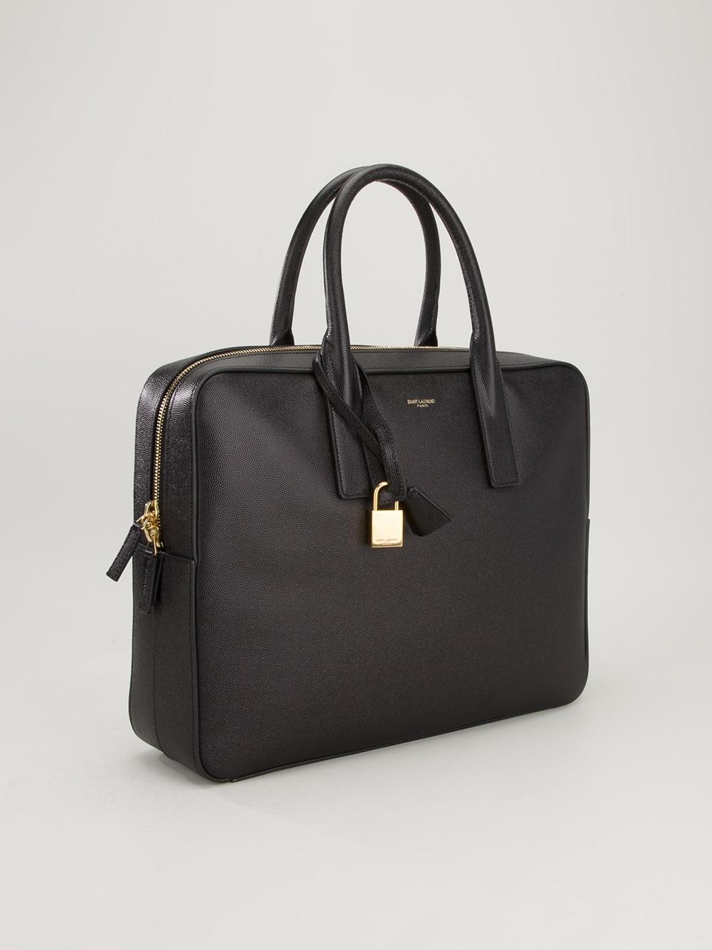 657f99df9045 Saint Laurent Tote Bag In Black Leather