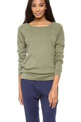 Three Dots Long Sleeve Sweatshirt - Lyst