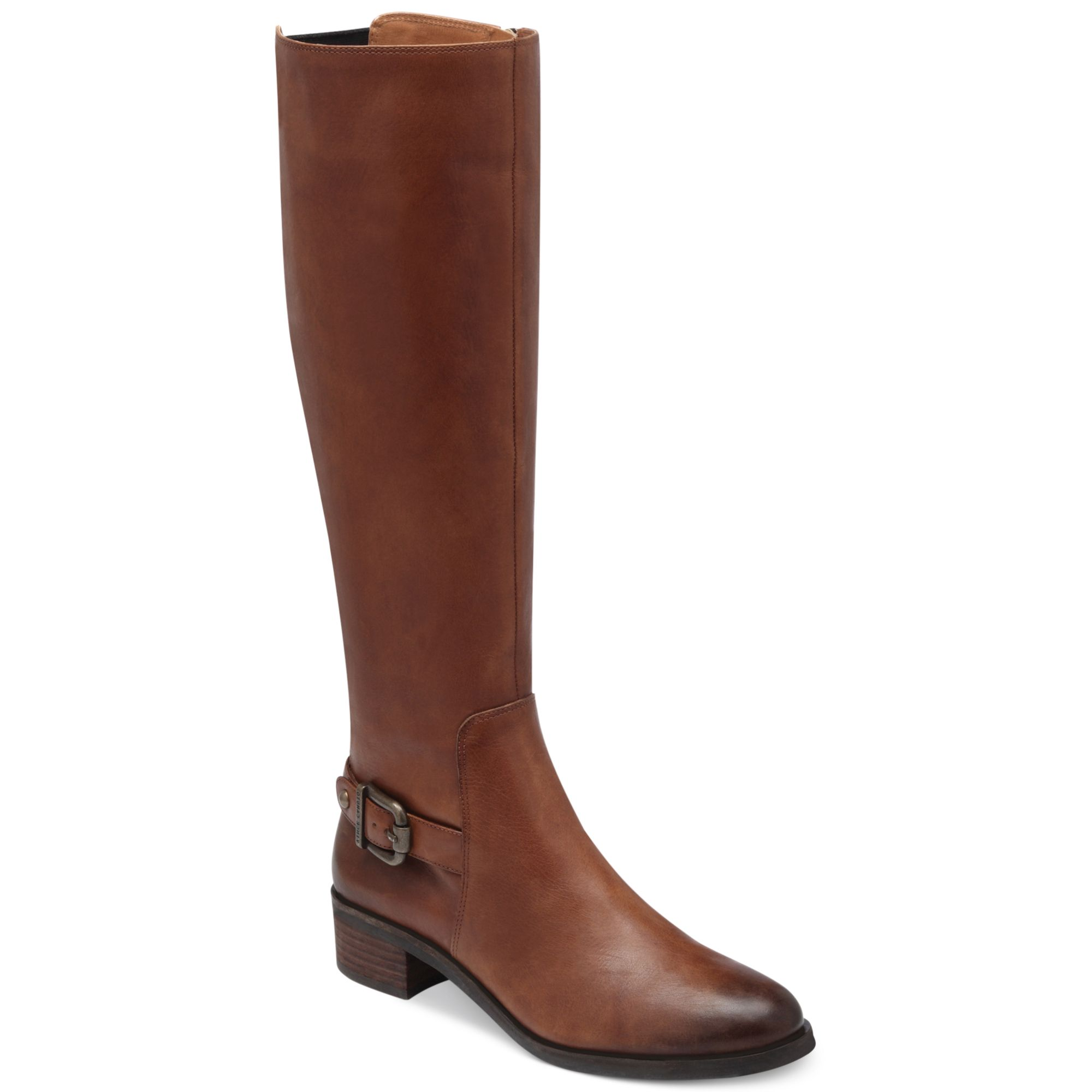 vince camuto volero wide calf boots in brown