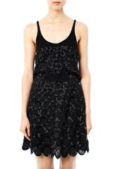 Balenciaga Circle Beadembellished Dress - Lyst