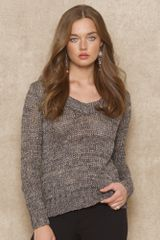 Blue Label Cottonblend Scoopneck Sweater - Lyst