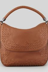 Bottega Veneta Cervo Medium Flap Shoulder Bag Dark Brown - Lyst