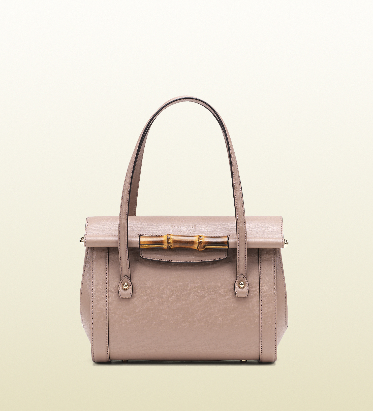 96378d68aec Lyst gucci bamboo leather top handle bag in pink jpg 1480x1632 Bamboo pink gucci  bag