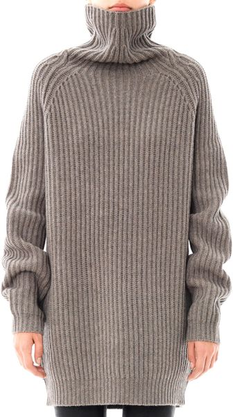 haider ackermann oversized wool sweater in gray grey lyst. Black Bedroom Furniture Sets. Home Design Ideas