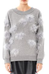 House Of Holland Pompom Feather Sweatshirt - Lyst