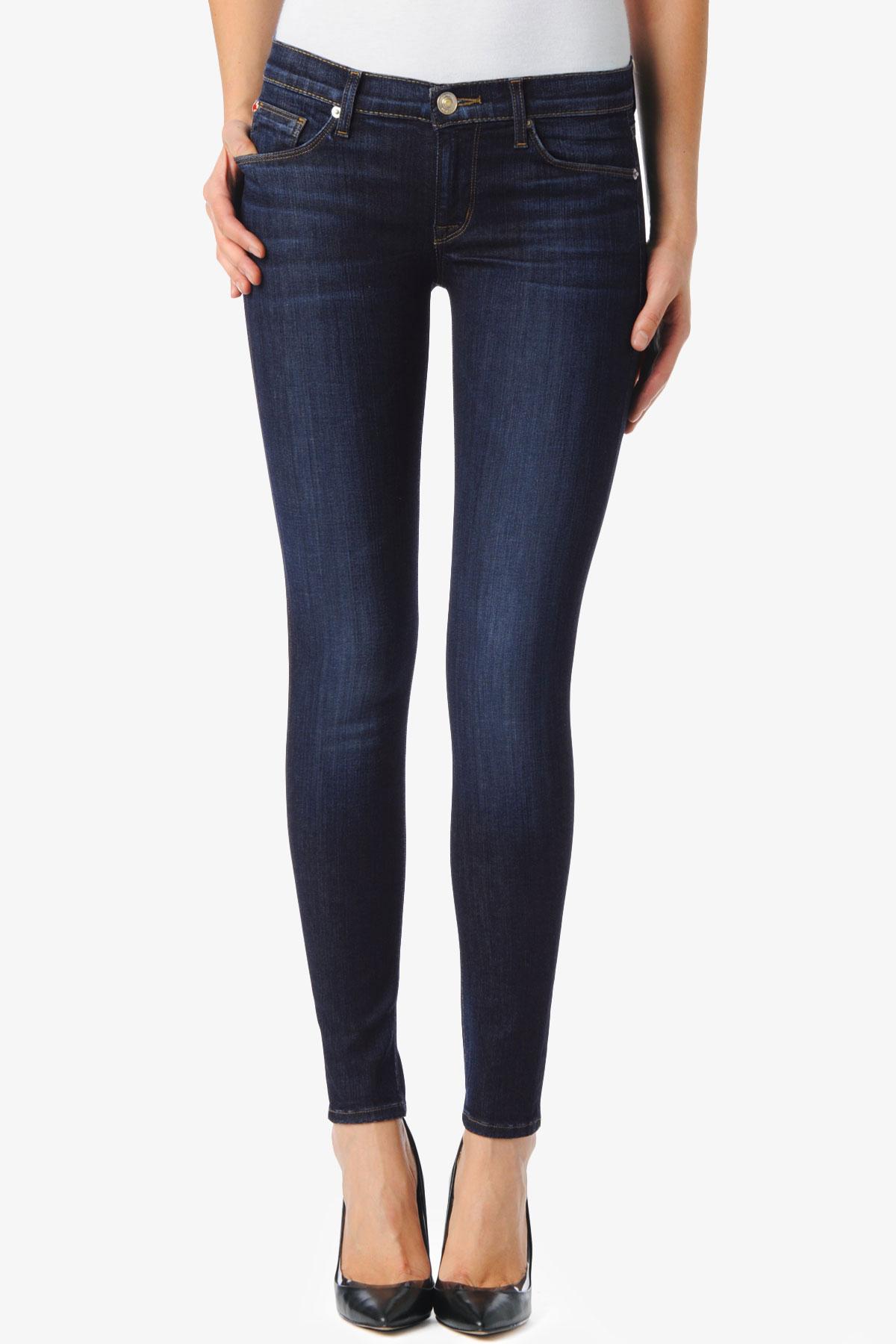 Hudson jeans Krista Super Skinny in Blue | Lyst