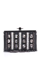 Jason Wu Bead Embellished Satin Box Clutch - Lyst