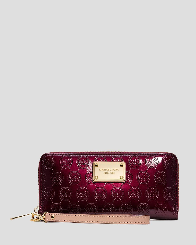 5c48cfb62798 ... coupon for lyst michael michael kors wallet patent tech continental in  purple 9e942 d3485 ...