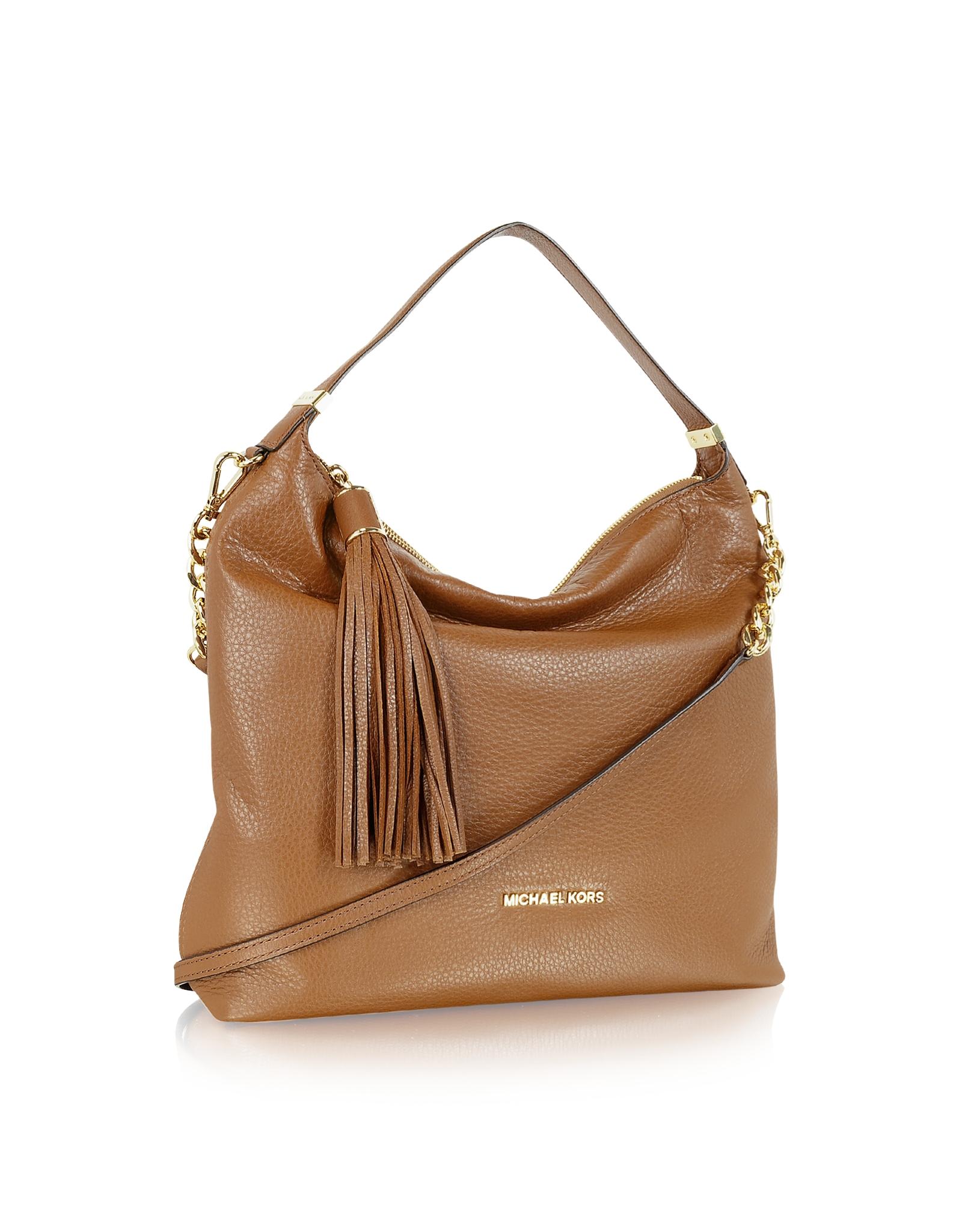 b2329e719304 Lyst - Michael Kors Large Weston Pebbled Shoulder Bag in Brown