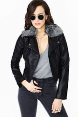 Nasty Gal Wild Child Faux Leather Moto Jacket - Lyst