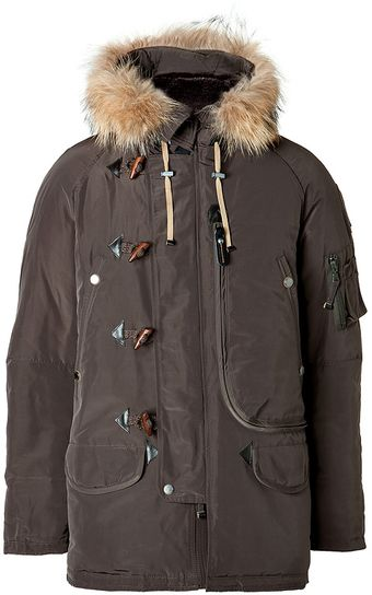 Parajumpers Type N3b Down Parka in Olive - Lyst