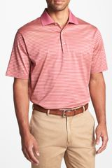 Peter Millar Andrews Stripe Knit Polo - Lyst