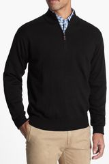Peter Millar Quarter Zip Merino Wool Sweater - Lyst