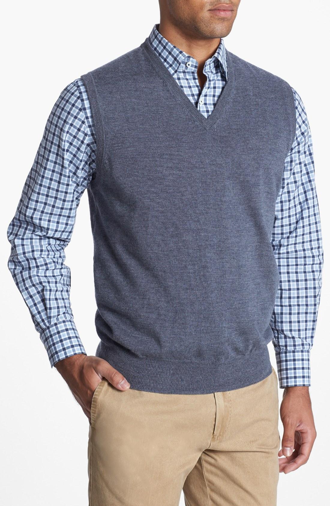 Peter millar Merino Wool Sweater Vest in Gray for Men   Lyst