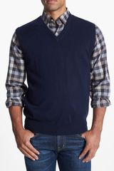 Peter Millar Merino Wool Sweater Vest - Lyst