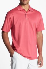 Peter Millar Solid Knit Polo - Lyst