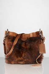 Ralph Lauren Shearling Small Shoulder Bag - Lyst