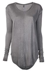 Raquel Allegra Raw Edge T-shirt - Lyst
