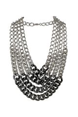 Topshop Thick Curb Multirow Necklace - Lyst