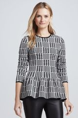 Torn By Ronny Kobo Natalie Plaid Peplum Top - Lyst