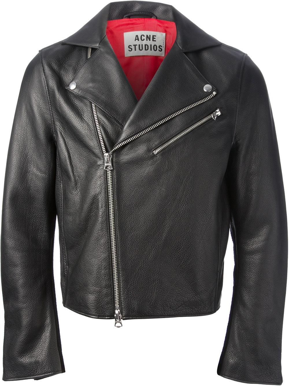Acne studios Gibson Biker Jacket in Black for Men | Lyst