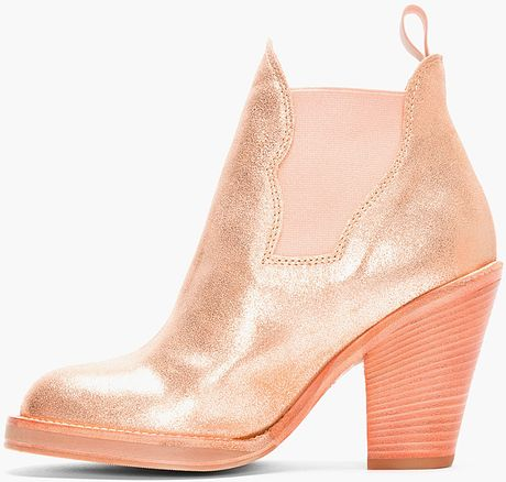 Pink Suede Ankle Boots Star Ankle Boots in Pink