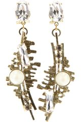 Anton Heunis Crystal Drop Earrings - Lyst