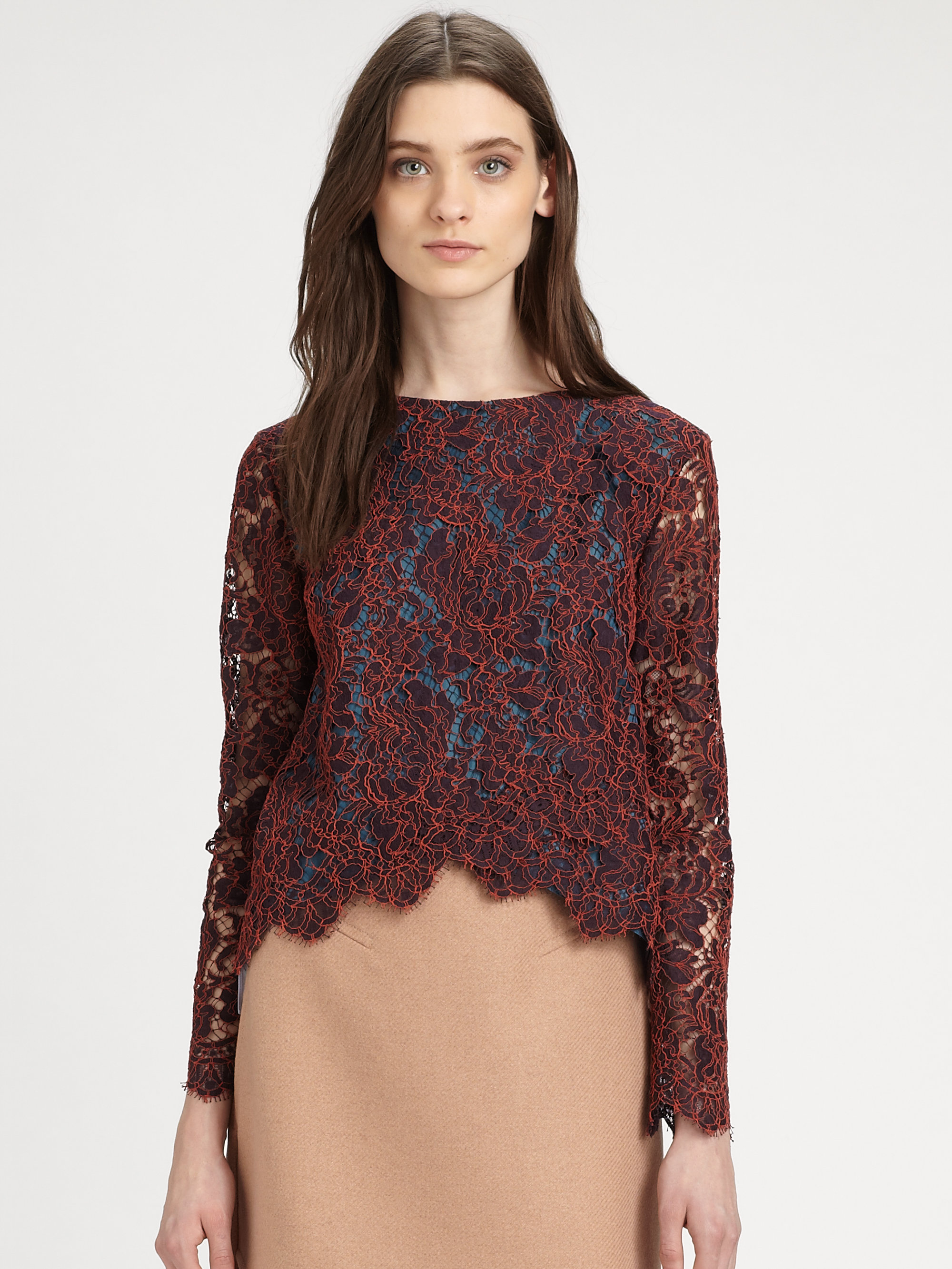 Buy BURGUNDY FLORAL LACE LONG SLEEVE BODYSUIT TOP,Find the newest womens casual top styles at specialtysports.ga fashion casual tops,cut out tops,hi lo tops,fashion knit tops,crop tops,tank tops,chiffon tops,sleeveless tops,print tops,button down shirt,one shoulders casual tops .