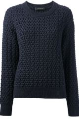 Cedric Charlier Cable Knit Sweater - Lyst