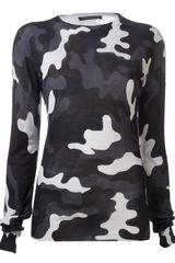 Christopher Kane Camouflage Sweater - Lyst