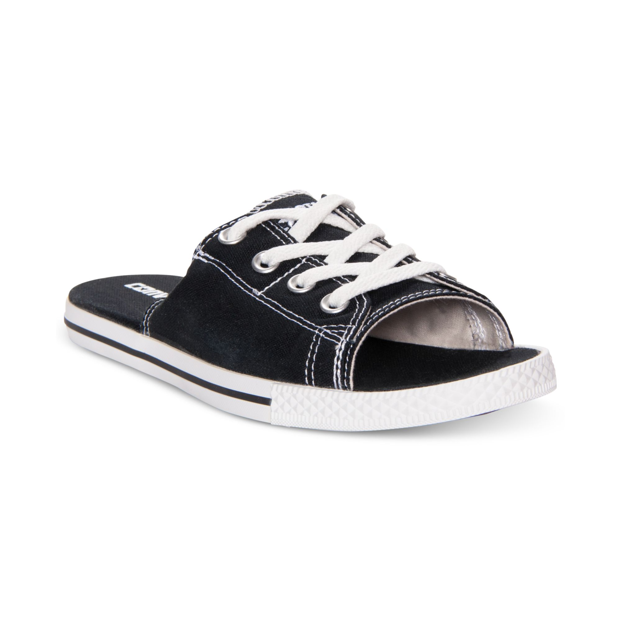 Lyst - Converse All Star Cutaway Evo Slide Sandals in Black 2227a2f31