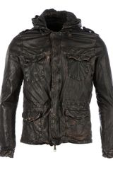 Giorgio Brato Distressed Leather Jacket - Lyst