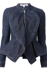 Givenchy Denim Peplum Jacket - Lyst