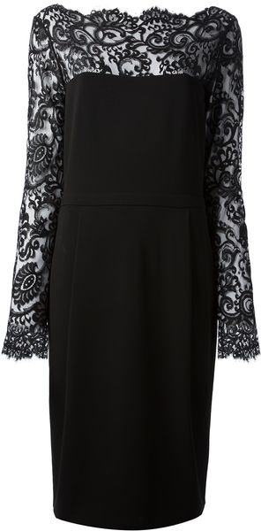 Gucci Lace Detail Jersey Dress - Lyst