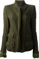 Haider Ackermann Standup Collar Jacket - Lyst
