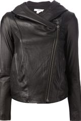 Helmut Lang Washed Leather Jacket - Lyst