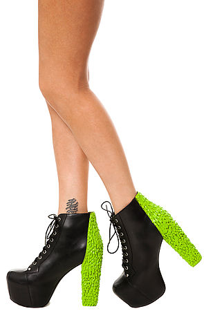 d46321fb2c85 Lyst - Jeffrey Campbell The Lita Back Drip Shoe in Black