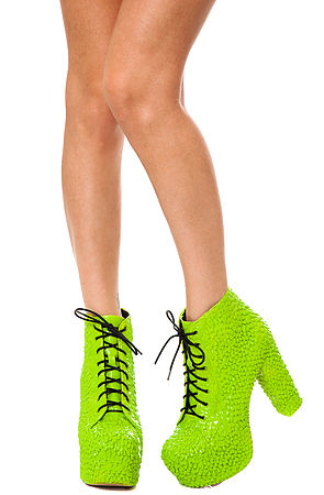d18c1fb28ded Lyst - Jeffrey Campbell The Lita Drip Shoe in Green