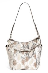 Jimmy Choo Anna Python Shoulder Bag - Lyst