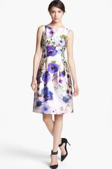 Lela Rose Floral Print Full Skirt Dress - Lyst