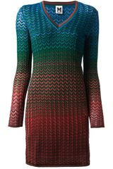 M Missoni Zig Zag Print Dress - Lyst