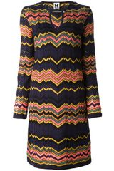 M Missoni Zigzag Knit Tunic Dress - Lyst