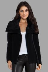 Mackage Mildred Solid Wool Coat in Black - Lyst