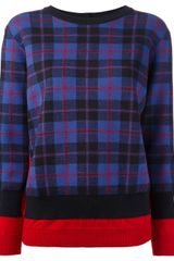 Marc By Marc Jacobs Checked Sweater - Lyst
