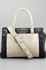 Marc By Marc Jacobs Know When To Foldem Jina Satchel Bag Black White - Lyst