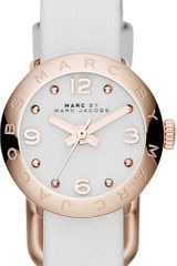 Marc By Marc Jacobs Rose Goldtoned Leather Watch - Lyst