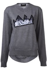 Markus Lupfer Crown Sequin Sweater - Lyst