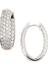 Memoire Diamond Pave Hoop Earrings - Lyst