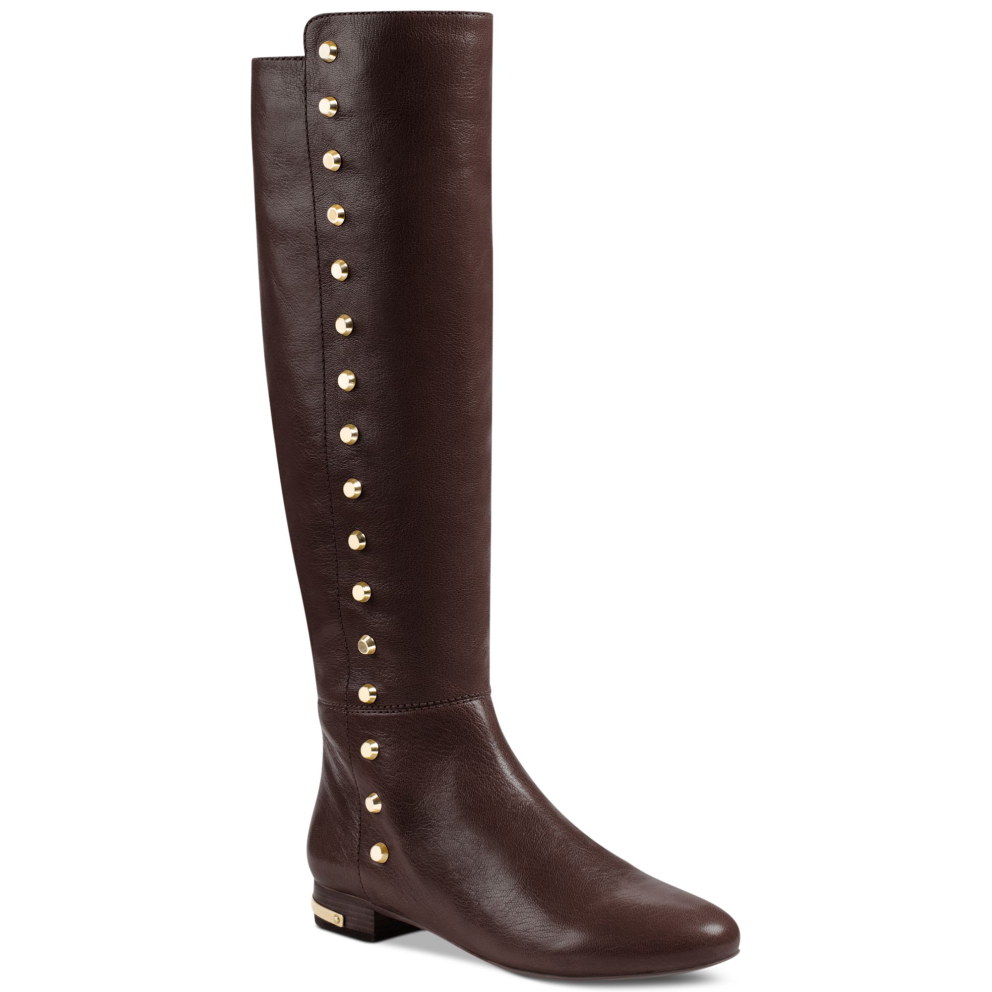michael kors ailee flat boots in brown coffee lyst